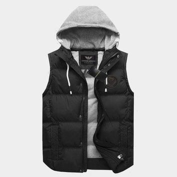 DCCKNY1Q Boys & Men Armani Fashion Casual Vest Jacket Coat