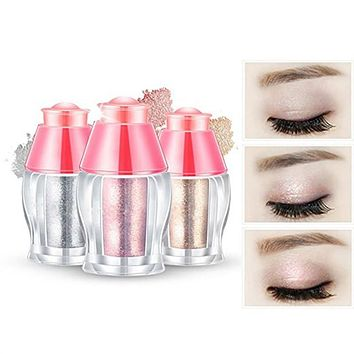 3pcs Shimmer Powder Highlighter Eye Makeup Kit