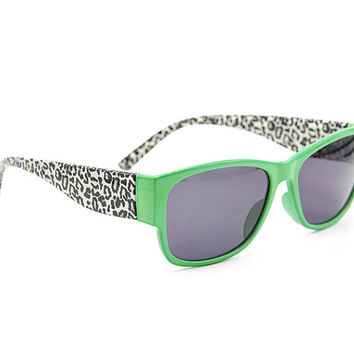 Leopard GreenSunglasses Wayfarer Style Unique Glasses S008