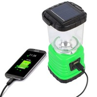 Pormithi Solar LED Camping Lantern ,Emergency Cell Phone charger, Solar-Recharged or USB,4 AAA batteries-recharged No need to replace batteries, Easy to store Perfect Camping Lantern for Hiking, Camping, Emergencies, Outages