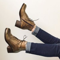 MOMA 92502 Bronze Metallic Boot for Women - re-souL