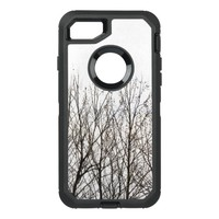 nature winter trees black and white otterbox case