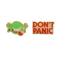 The Hitchhiker's Guide to the Galaxy Enamel Pin Set – Out of Print