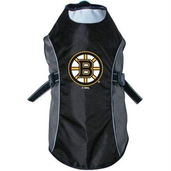 DCCKT9W Boston Bruins Water Resistant Reflective Pet Jacket
