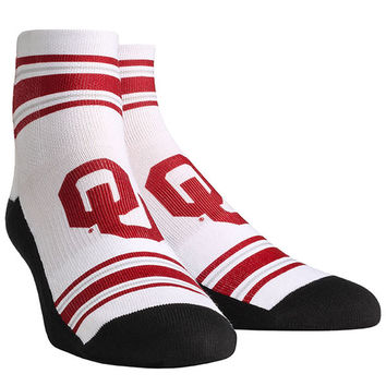 Oklahoma Sooners Youth Classic Stripes Quarter-Length Socks - White