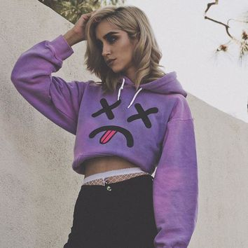 Women Pullovers 2017 Winter Thicking Fashion Hoodie Funny Emotion Girls Casual Sweatershirt  Tracksuit Harajuku WS2626Y