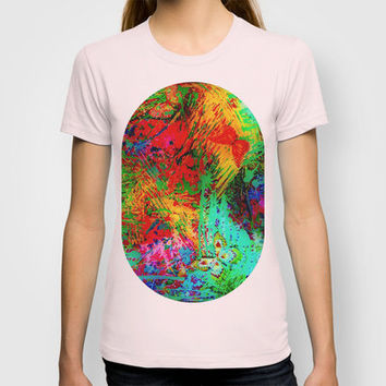 BUTTERFLY FEVER - Bold Rainbow Butterflies Fairy Garden Magical Bright Abstract Acrylic Painting T-shirt by EbiEmporium | Society6