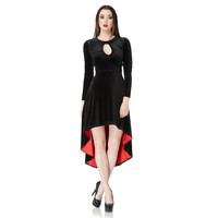 Jawbreaker Black Velvet Hi Low Dress