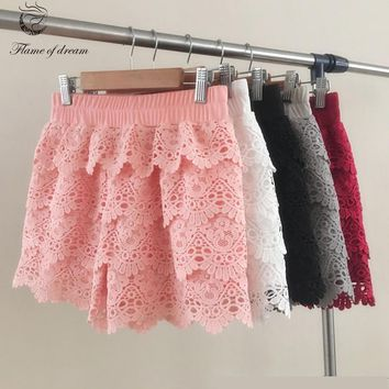 Shorts for women S-2XL for weight 40-70kg plus size  Shorts Women Fashion Mini Shorts big size lace design