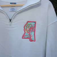 Lilly Pulitzer State Monogram 1/4 Zip Sweatshirt