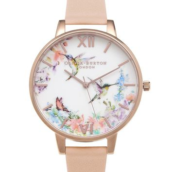 **Painterly Prints Hummingbird Watch by Olivia Burton | Topshop