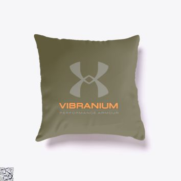 Vibranium Armour, Black Mirror Throw Pillow Cover