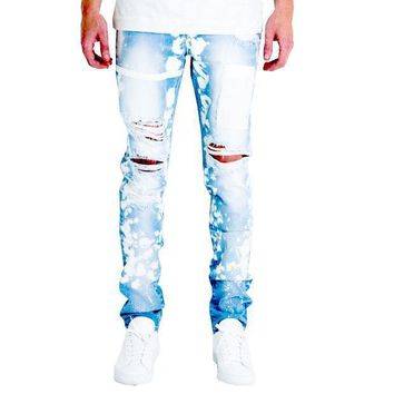 Embellish Nyc Drophead Jeans In Light Blue - Beauty Ticks