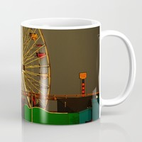 Pacific Park at sunset Mug by Claude Gariepy