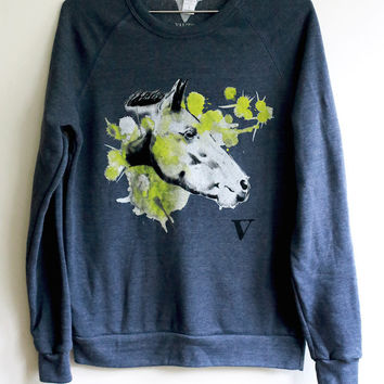 Chinese Zodiac Horse: VAUTE x Mia Sweatshirt in Navy [Benefit for NYCLASS]