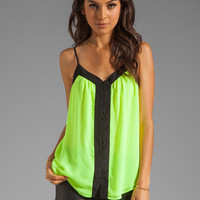 PJK Patterson J. Kincaid Johanna Colorblock Tank in Neon Yellow from REVOLVEclothing.com