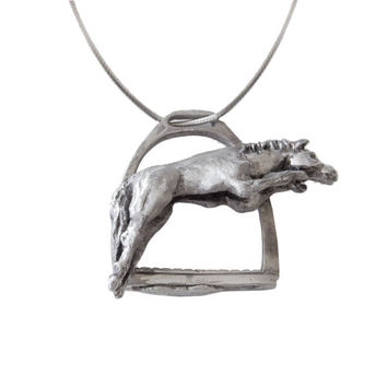 Stirrup horse jumper pendant | Paris Turf Wearable Art