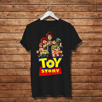 Toy Story Cartoon Animaton T-Shirt. Woody And Friends T.shirt ,Women T-Shirt (Available Various Color)