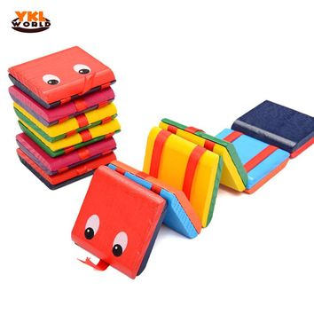 2017 YKLWorld Wooden Colorful Board Magic Book Flap Toys Exercising Hand-eye Children Educational Toys -20
