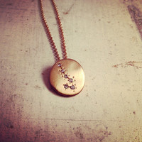 Hand Made Scorpio Zodiac Sign Constellation Necklace GOLD Constellation necklace Scorpio Star Sign Charm Zodiac Charm Small Charm W105