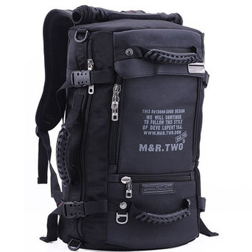 MRTWO Men Large Capacity Backpack Sport Travel Outdoor Bags