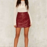 Wait a Mini Vegan Leather Skirt