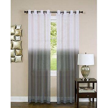 Ben&Jonah Collection Essence Window Curtain Panel - 52x84 - Charcoal