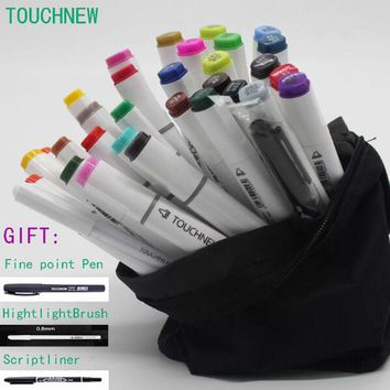 Free shipping six generations two-headed alcohol oily mark brush pen hand-painted 40 48 80 sketch copic markers manga drawing