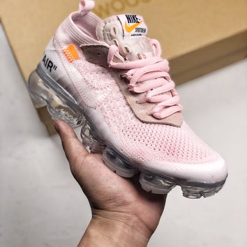 "OFF-WHITE x VaporMax ""Macaroon""  Running Shoes"