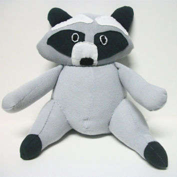 Raccoon Stuffed Animal Eco Crook by RopeSwingStudio on Etsy