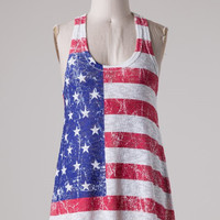 Red, White, and Blue Tank Top