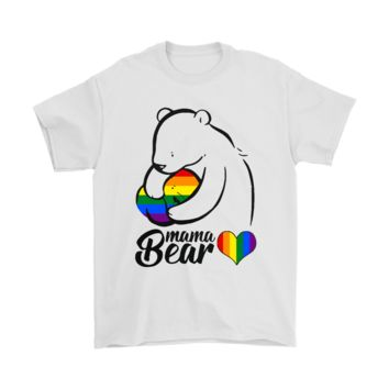 PEAP3CR LGBT Mama Bear Protective Mother's Love Shirts