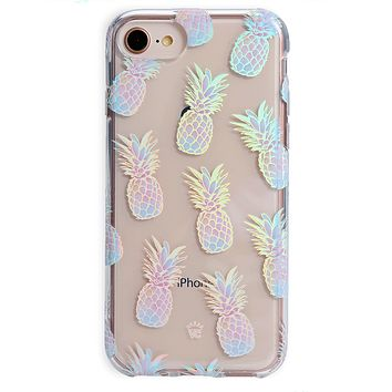 Pineapple Holo iPhone Case
