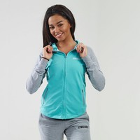 Womens Fitness Hoodie | Grey Marl / Mint Green | Gymshark