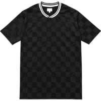 Supreme: Checker Soccer Jersey - Black