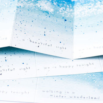 'Snow Is Glistening' Concertina Christmas Card