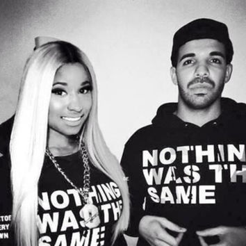 Nothing Was The Same Nicki Minaj & Drake Women's & Men's Unisex Casual Black & White Pullover Hoodie