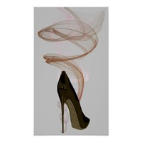 Smokin' Stiletto Shoe Art Poster