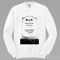 5SOS Michaels Hair Gravestone Sweatshirt