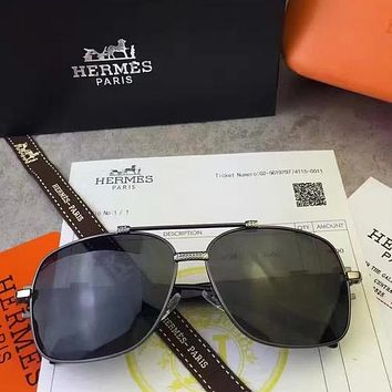 Hermes Woman Fashion Summer Sun Shades Eyeglasses Glasses Sunglasses