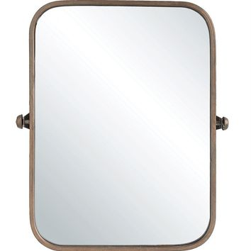 Adjustable Metal Framed Wall Mirror -- Copper Finish 20-1/2-in L x 24-in H