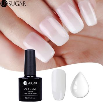 UR SUGAR Opal Jelly Gel Polish 7.5ml White Soak Off UV Gel Nail Polish Varnish Semi-permanent Manicure Nail Art UV LED Lacquer