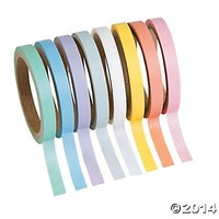 Pastel Solid Colors Washi Tape Set