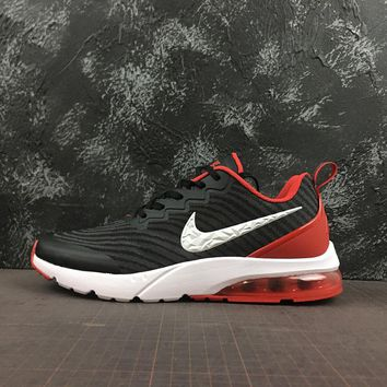 Nike Air VaporMax Flyknit Black/Red/White Logo Running Shoes - Best Online Sale