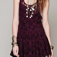 Cupshe Blossom More Lace Tank Mini Dress