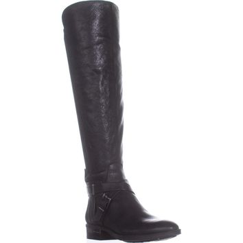 Vince Camuto Paton Flat Knee-High Fashion Boots, Black, 7 US / 37 EU