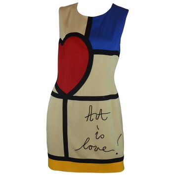 Moschino Art is Love Mondrian Dress