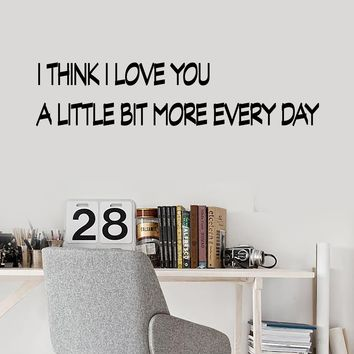 Vinyl Wall Decal Stickers Motivation Quote Words Positive Inspiring I Love You Letters 2023ig (22.5 in x 5 in)