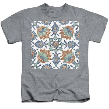 An Ottoman Iznik Style Floral Design Pottery Polychrome, By Adam Asar, No 13k - Kids T-Shirt