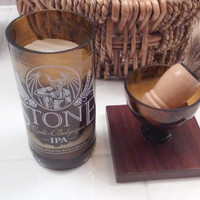 Stone Brewing --- Cali-Belgique IPA --- Shaving Mug with Cedar Lavender Soap